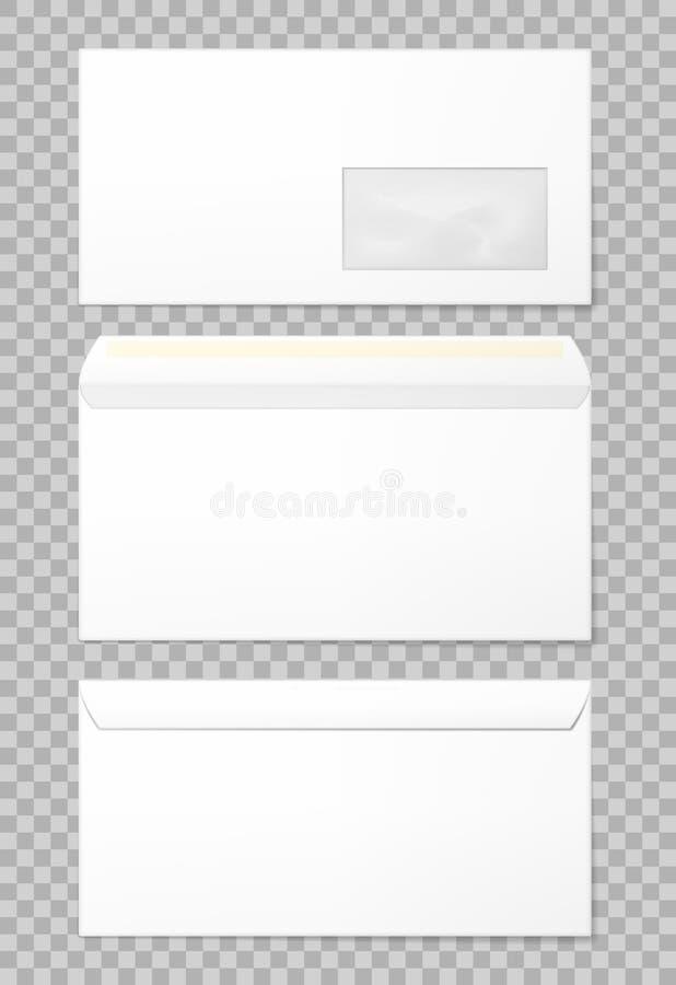 Envelopes vazios ajustados ilustração do vetor