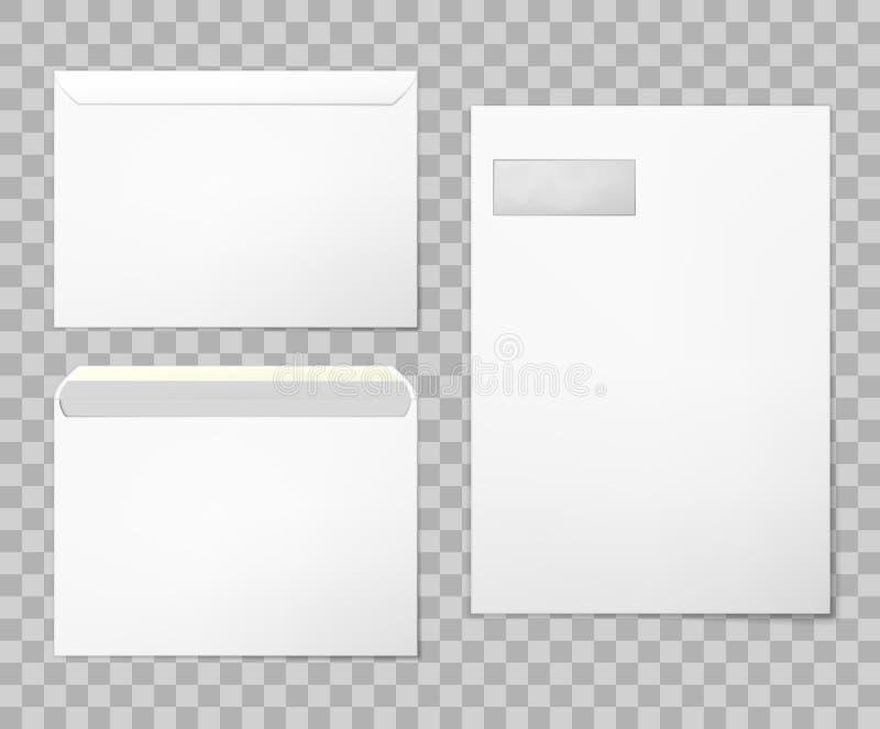 Envelopes vazios ajustados ilustração stock