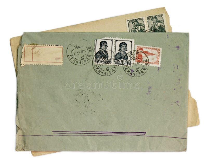 Envelopes velhos imagens de stock