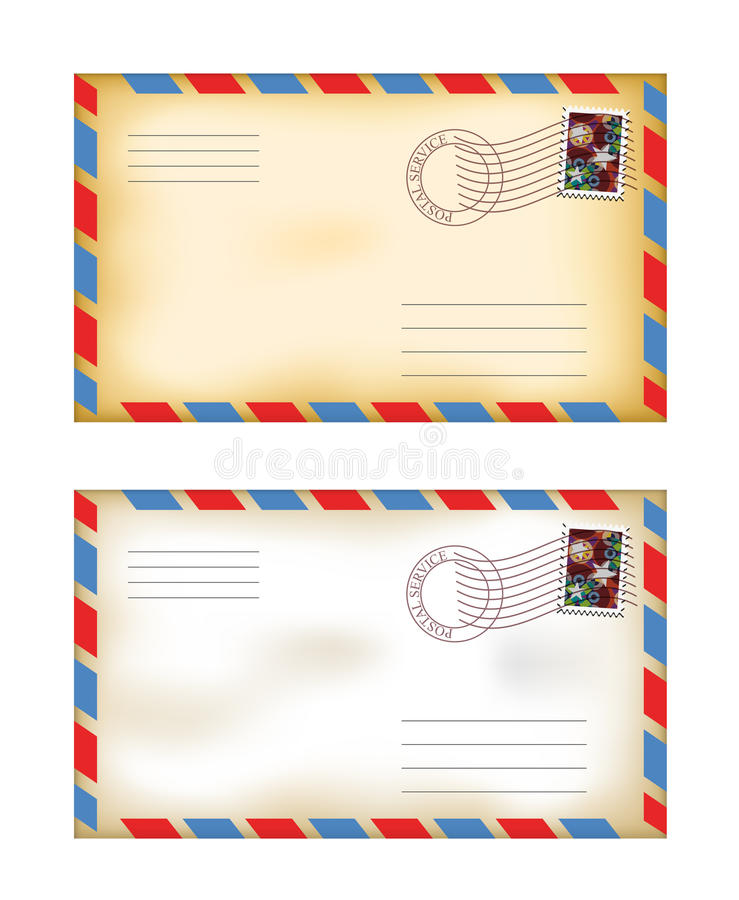 Envelopes velhos ilustração royalty free