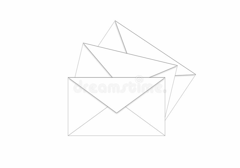 Download Envelopes on the way stock illustration. Image of mailorder - 522555