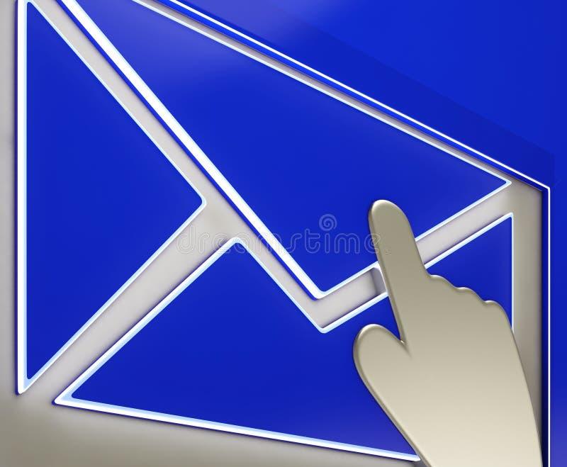 Envelopknoop die Aan de gang zijnde E-mail tonen vector illustratie