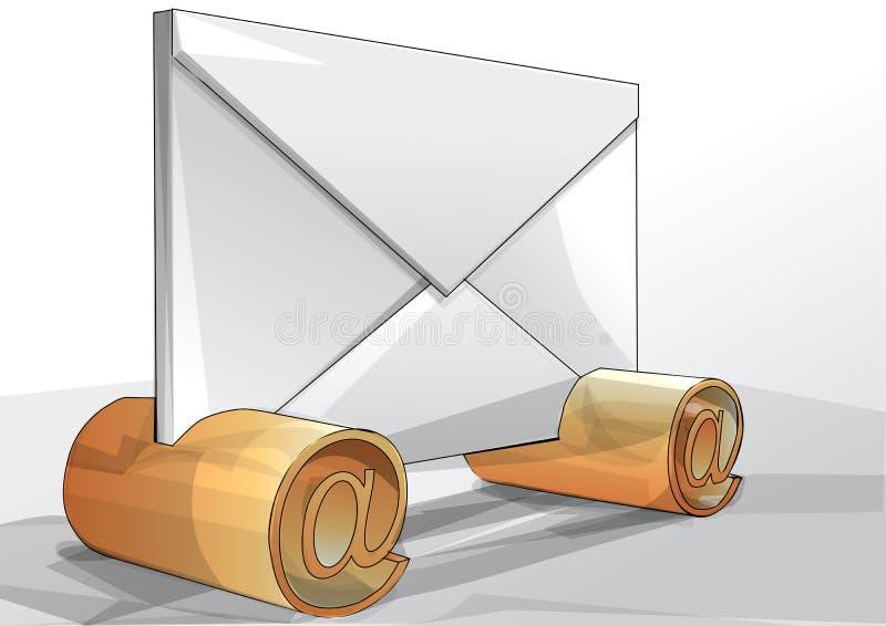 Enveloppe avec l'email de signe illustration stock