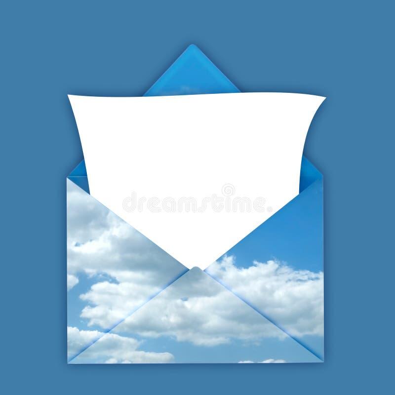 Enveloppe avec la note blanc illustration de vecteur