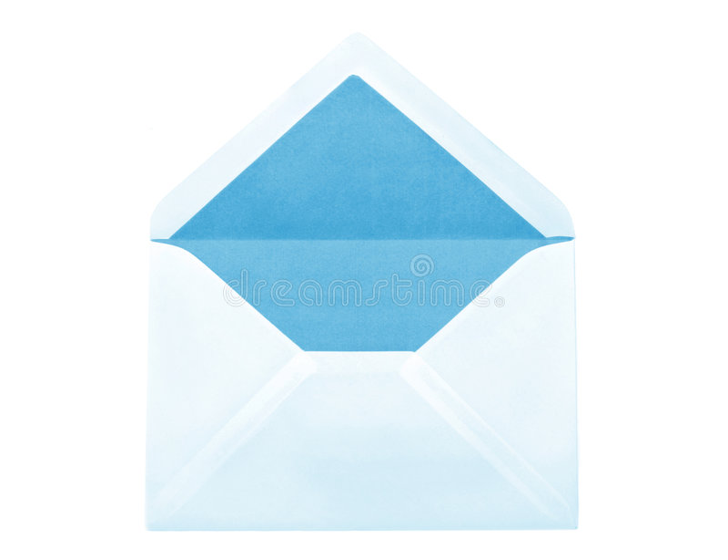 Enveloppe bleue images stock