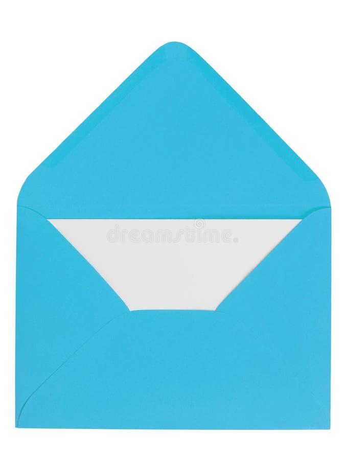 Enveloppe bleue avec la lettre photo stock