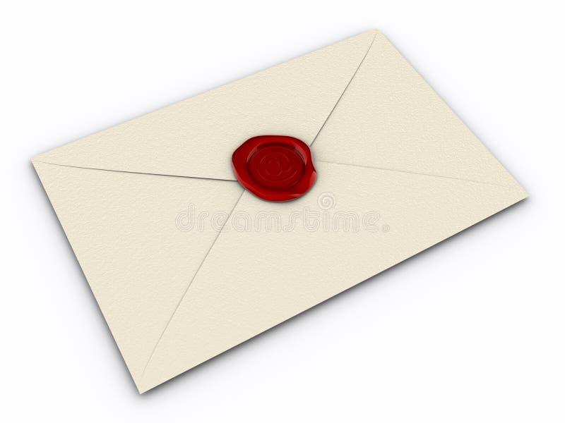 Enveloppe d'email illustration stock