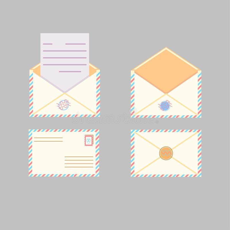 Enveloppe de courrier de vecteur illustration de vecteur