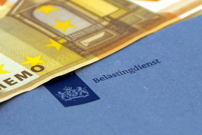 Enveloppe of the dutch tax department `Belastingdienst` stock image