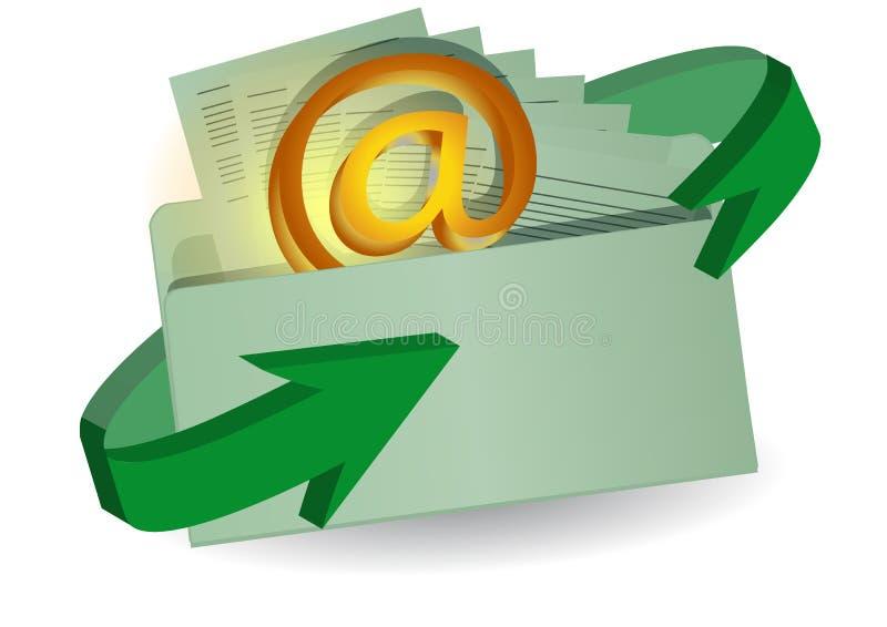 Enveloppe et email illustration libre de droits