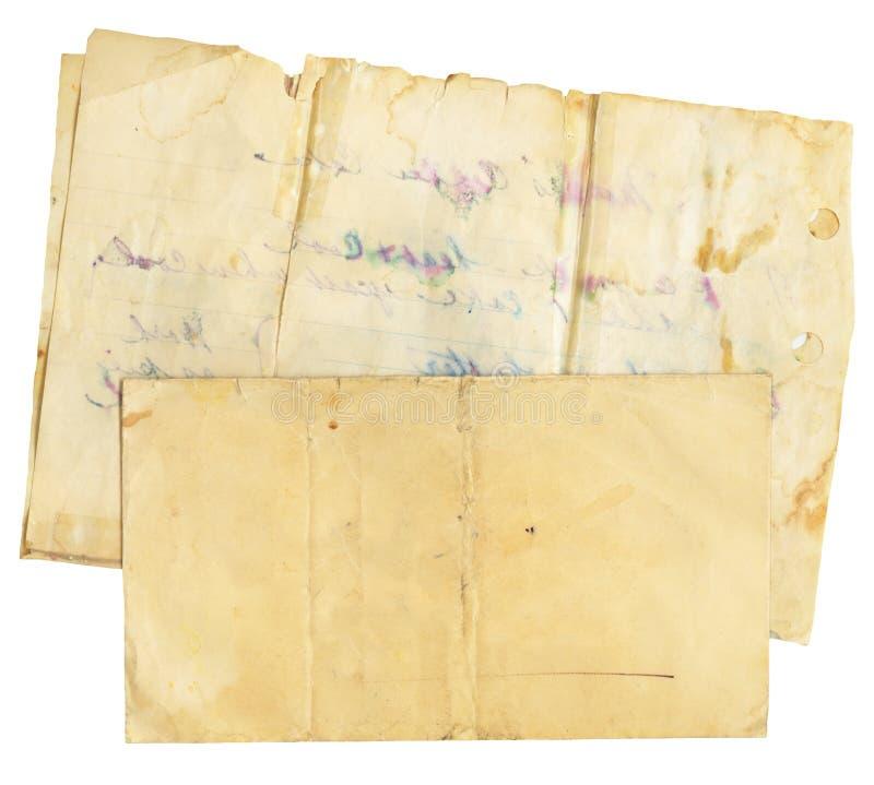 Enveloppe et papier de cru photographie stock libre de droits