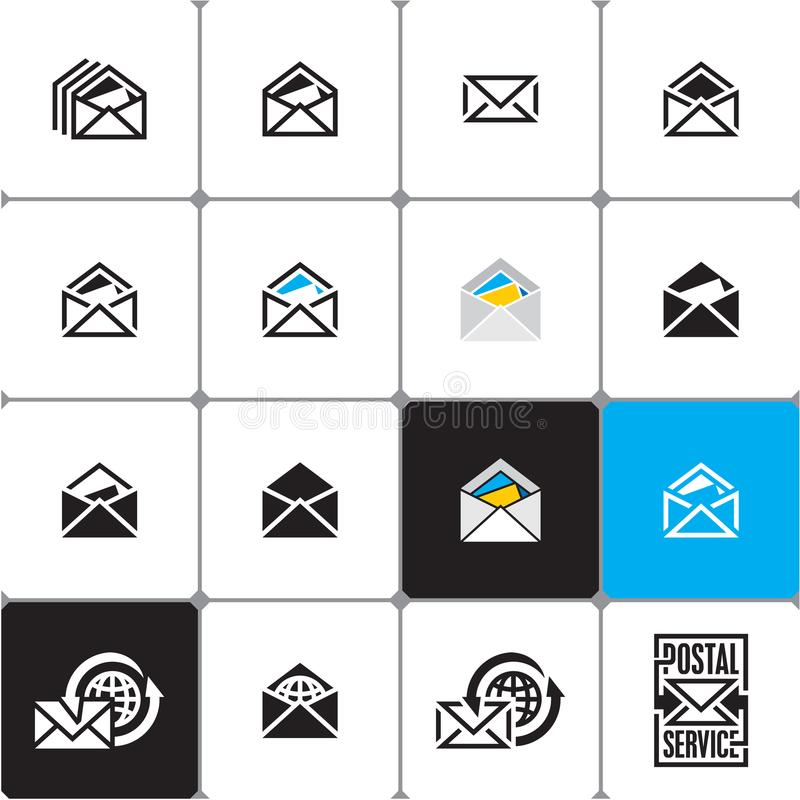 Enveloppe Graphisme de courrier Email illustration de vecteur