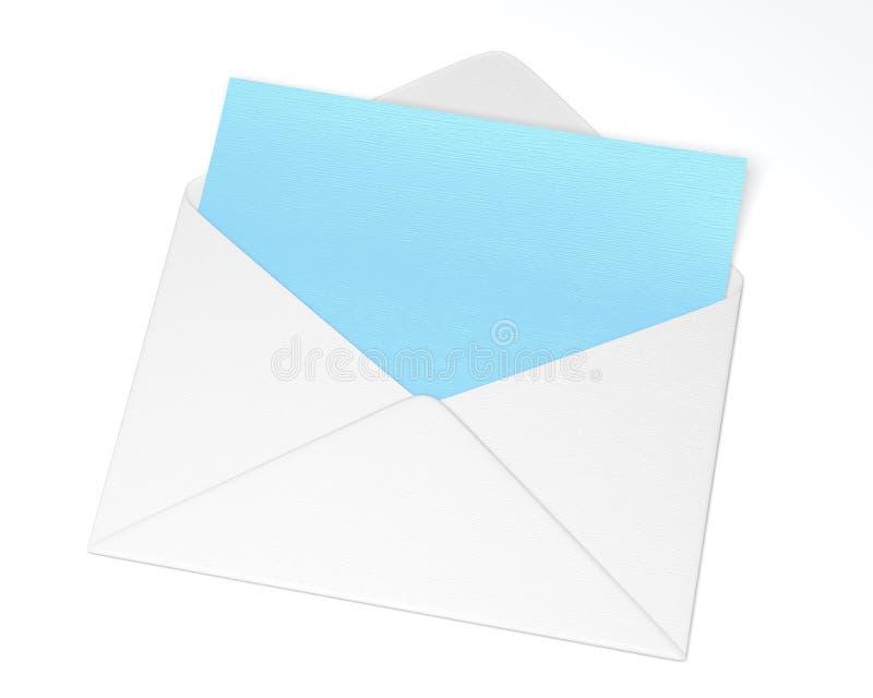 enveloppe ouverte de blanc avec la lettre bleue illustration stock illustration du bleu. Black Bedroom Furniture Sets. Home Design Ideas