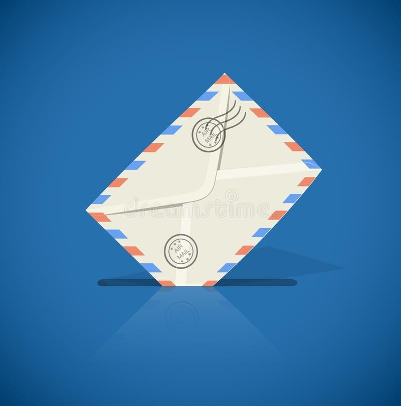 Enveloppe postale avec la lettre illustration libre de droits