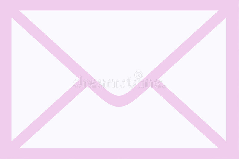 Enveloppe rose de courrier illustration de vecteur