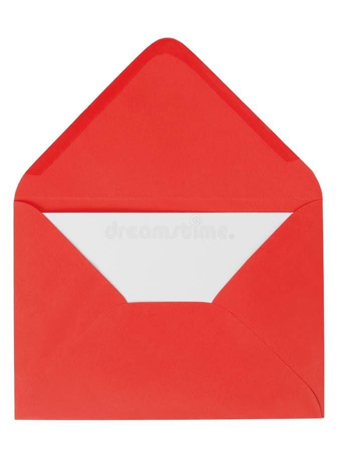 Enveloppe rouge avec la lettre photo stock