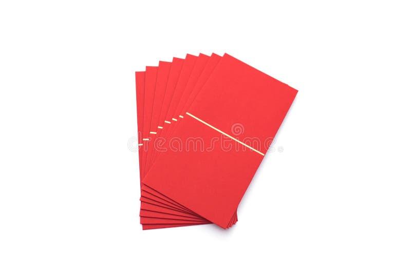 Enveloppe rouge d'isolement sur le festival chinois de nouvelle année de fond blanc photos libres de droits