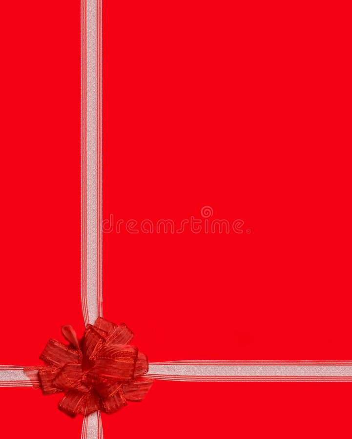 enveloppe rouge de bande de cadeau image libre de droits