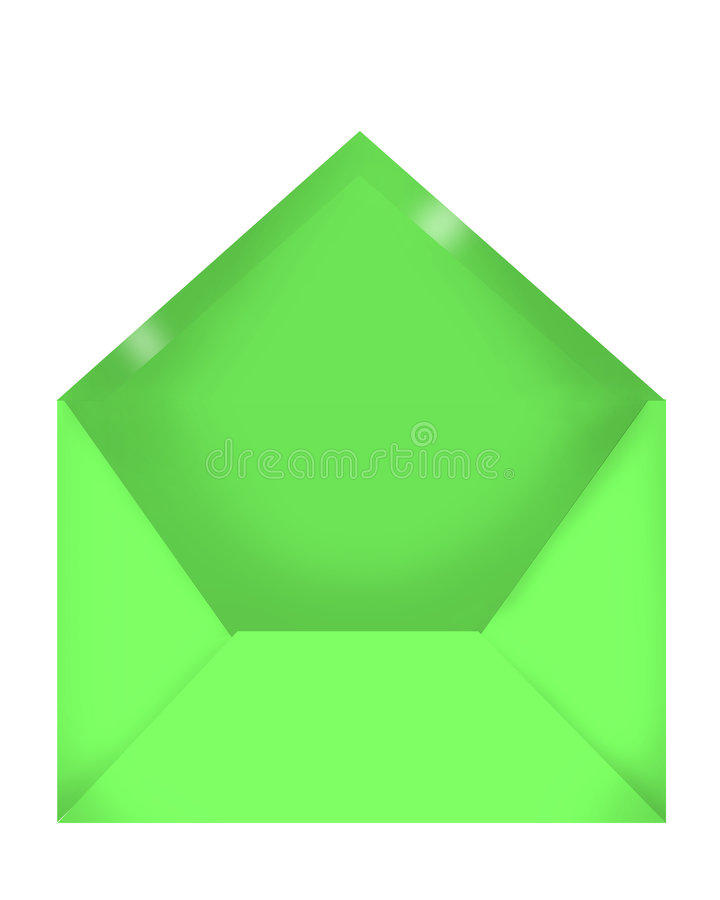 Enveloppe Verte Images libres de droits