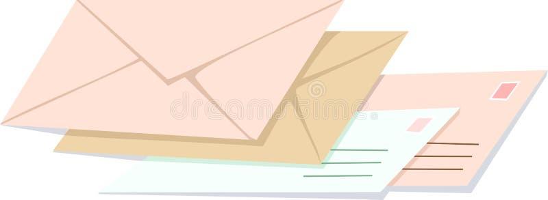 Enveloppen vector illustratie