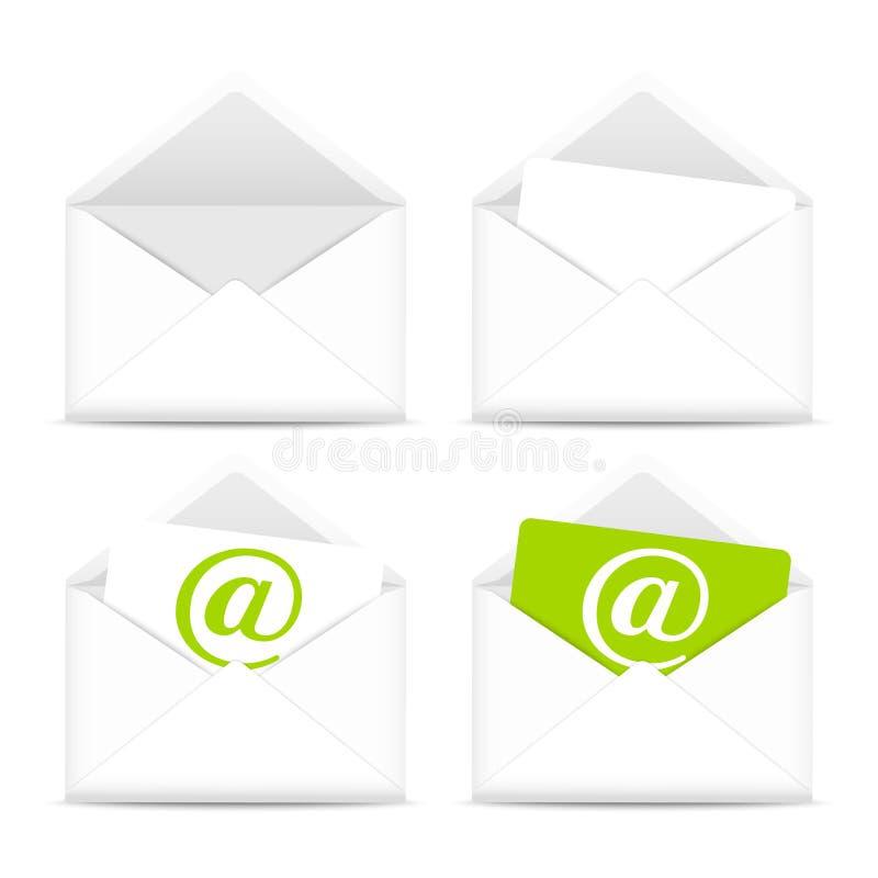 Enveloppenpictogrammen vector illustratie