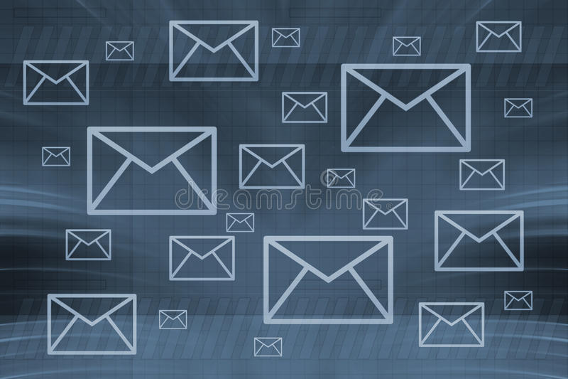 Enveloppes illustration de vecteur