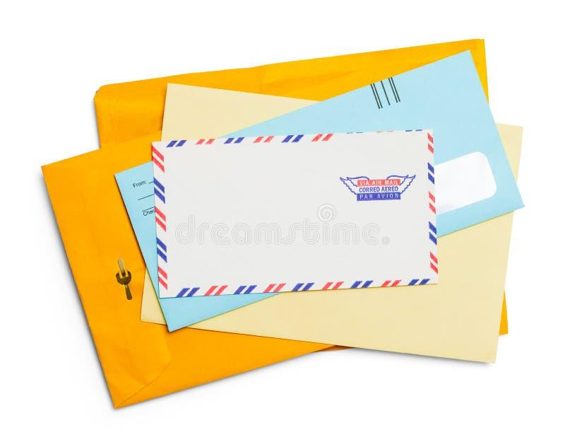 enveloppes photographie stock libre de droits