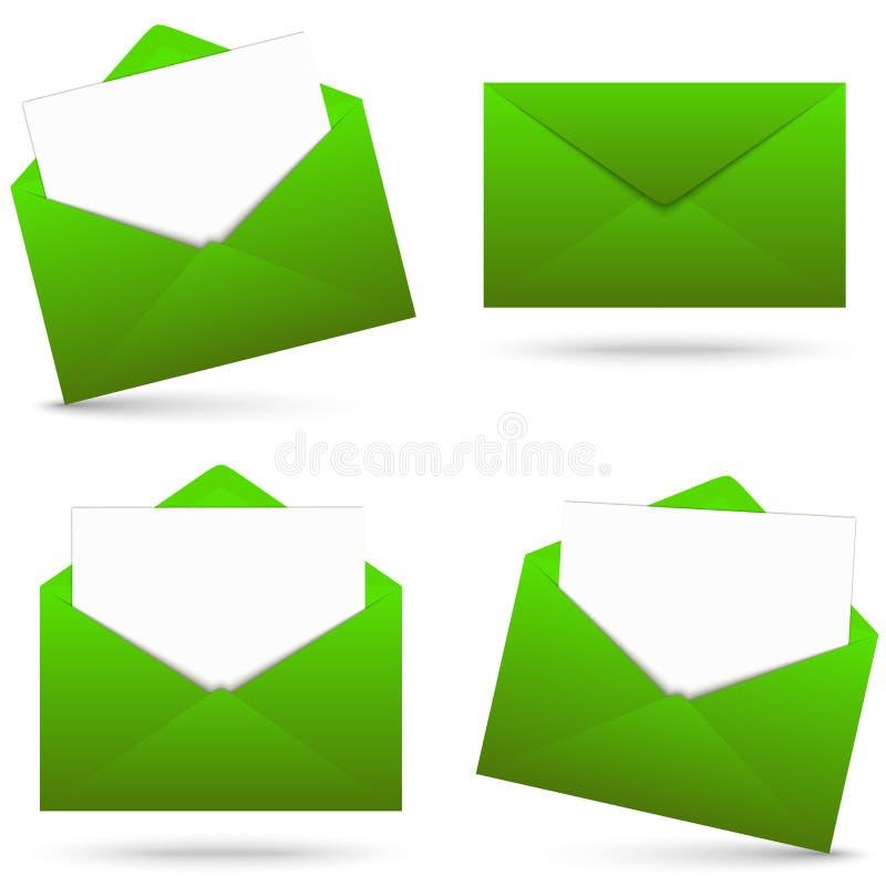 Enveloppes avec la collection de bloc-notes illustration stock