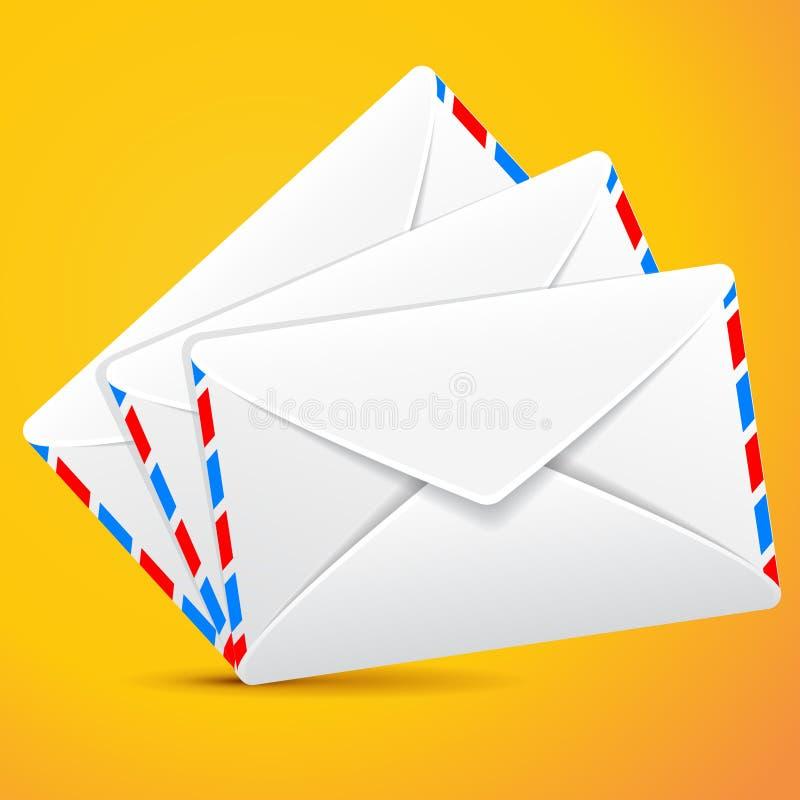 Enveloppes de groupe, ensemble d'enveloppes illustration libre de droits