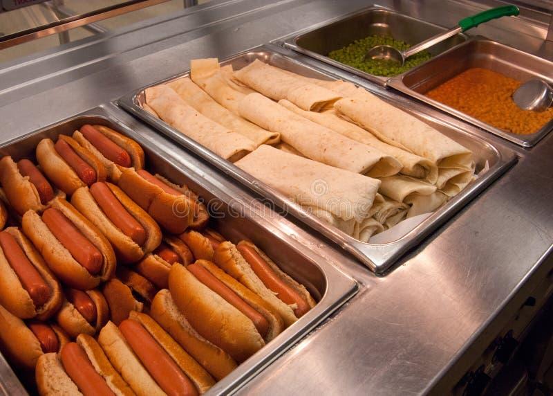 Enveloppes de Taco de poissons de Baja et hot-dogs de la Turquie photos libres de droits