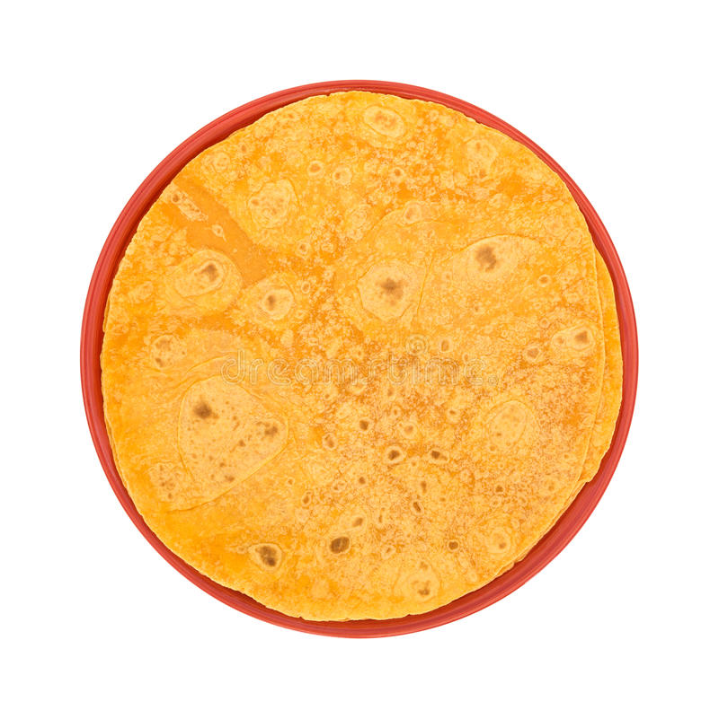 Enveloppes de tortilla de tomate sur une vue supérieure de plat photos libres de droits