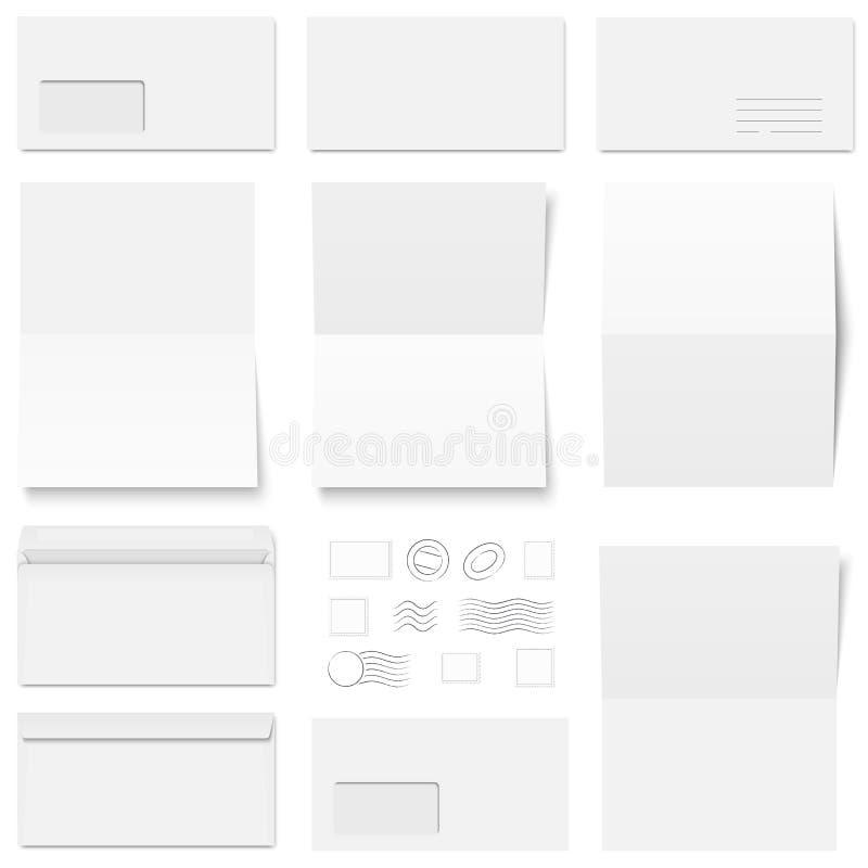 enveloppes et timbres-poste illustration libre de droits