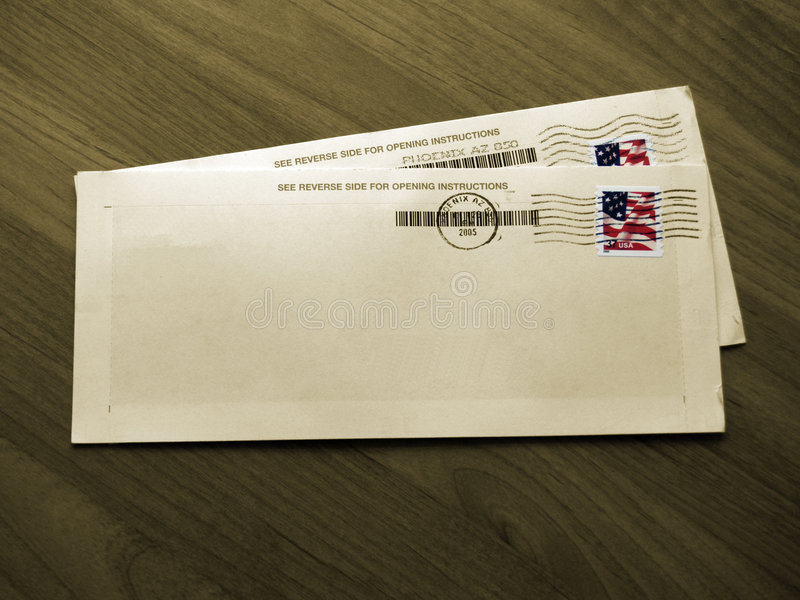 Enveloppes (sépia - couleur d'isolement) images stock
