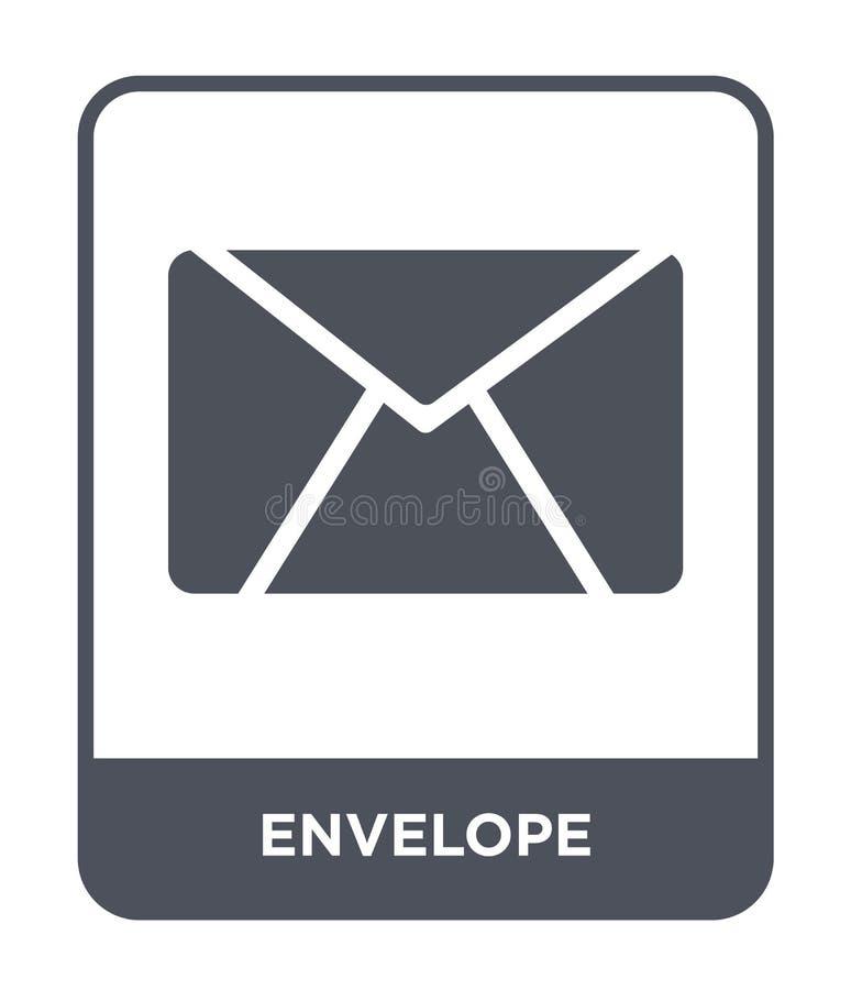 enveloppictogram in in ontwerpstijl Enveloppictogram op witte achtergrond wordt geïsoleerd die eenvoudige en moderne vlakte van h vector illustratie