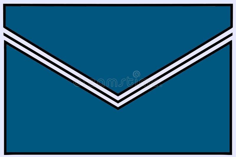 Enveloppictogram: wintertaling met zwart-witte gomvouwen en witte grenzen royalty-vrije illustratie