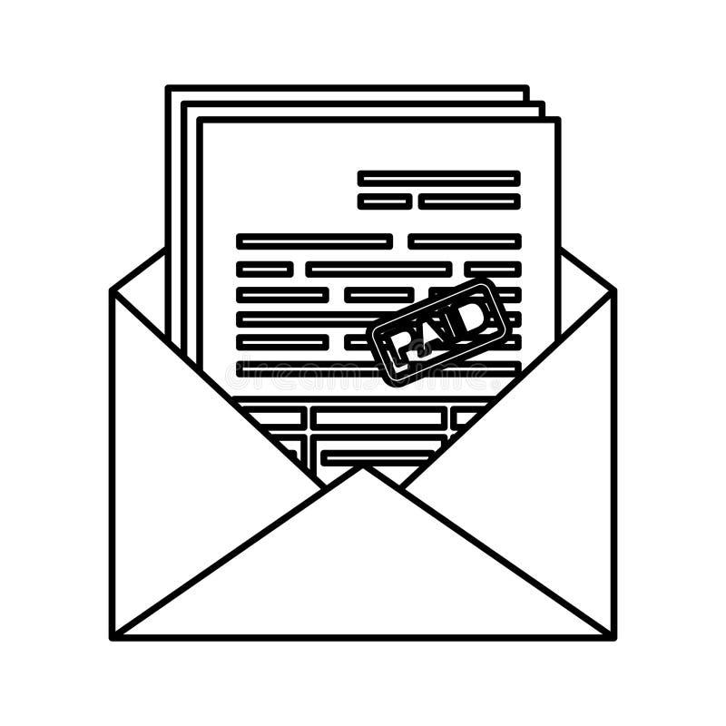 Enveloppost met belastingen stock illustratie
