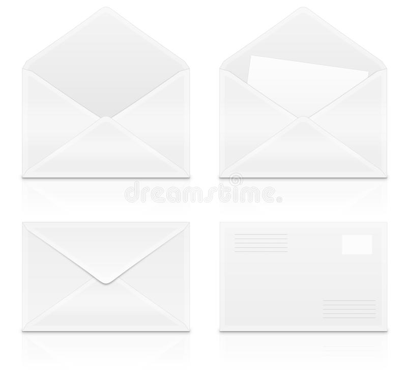 Download Envelops stock illustration. Image of contact, objects - 24912151