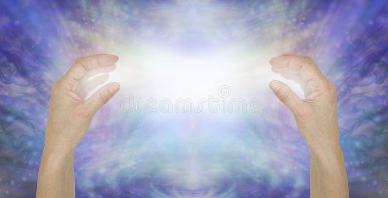 Enviando a amor incondicional puro a energia cura ilustração do vetor