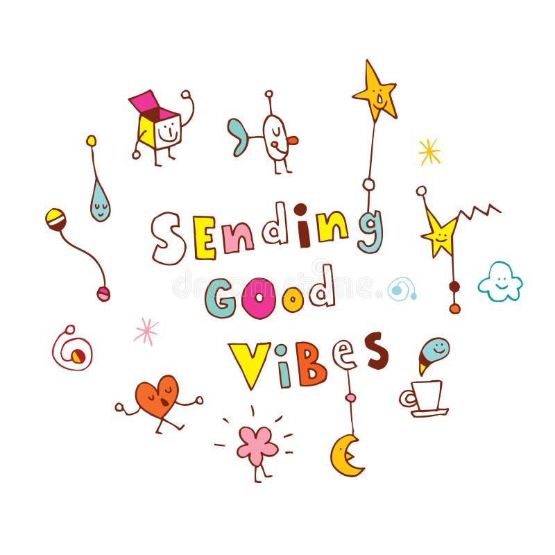 Enviando boas vibrações ilustração do vetor