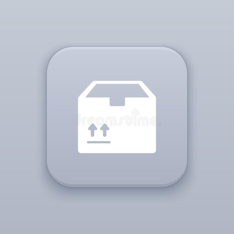 Enviando, botão da caixa, o melhor vetor ilustração royalty free