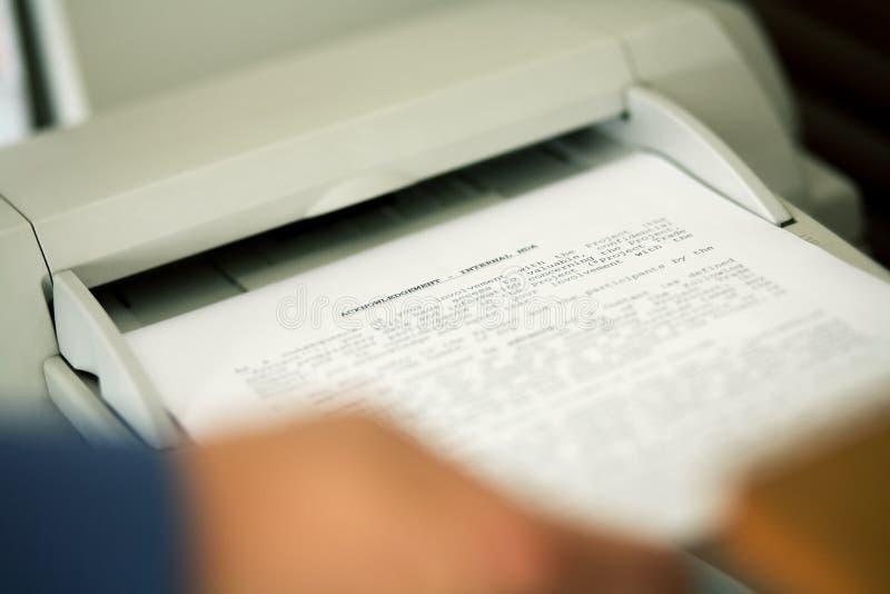 Enviar el NDA por fax fotos de archivo