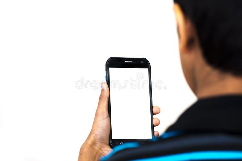 Enviciado al teléfono imagenes de archivo