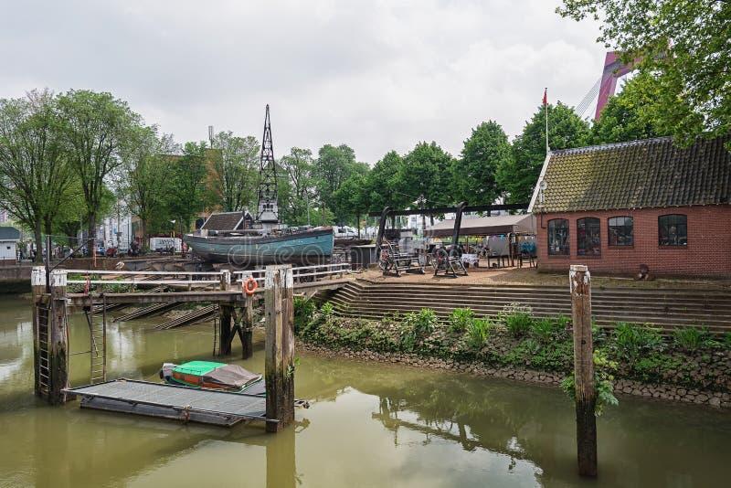 Envie a jarda no porto velho de Rotterdam fotografia de stock royalty free