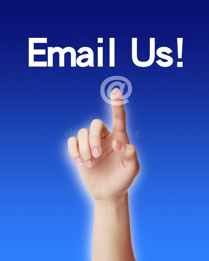 Envie-nos por correio electrónico! imagens de stock royalty free