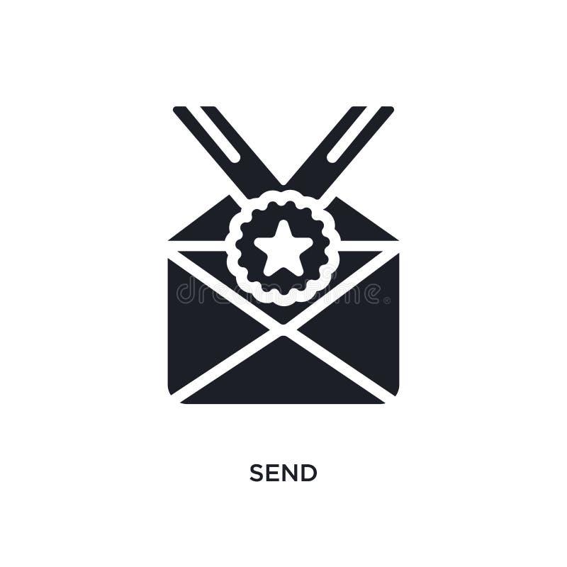 envie o ícone isolado ilustração simples do elemento dos ícones do conceito do sucesso envie o projeto editável do símbolo do sin ilustração do vetor