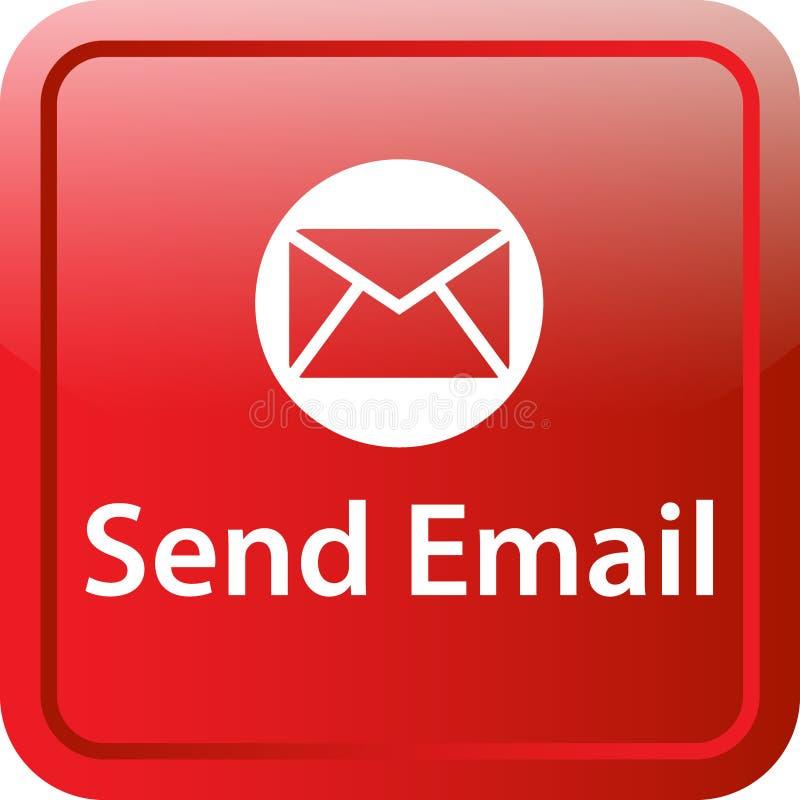 Envie o botão da Web do ícone do correio ilustração stock