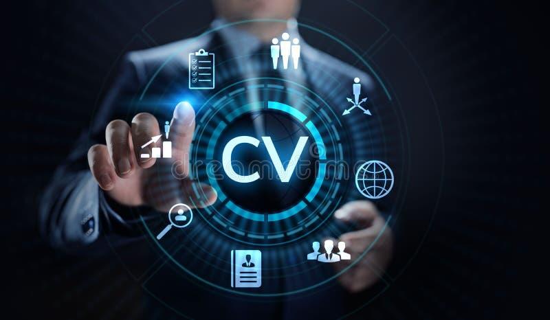 Envie o CV, resumo, recrutamento, emprego, contratando o conceito do neg?cio ilustração do vetor