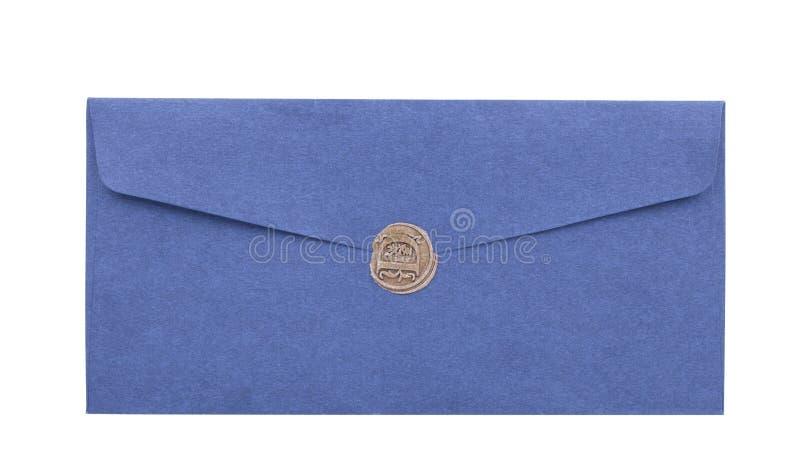Envie o envelope ou a letra selado com o close up do selo do selo da cera fotografia de stock royalty free