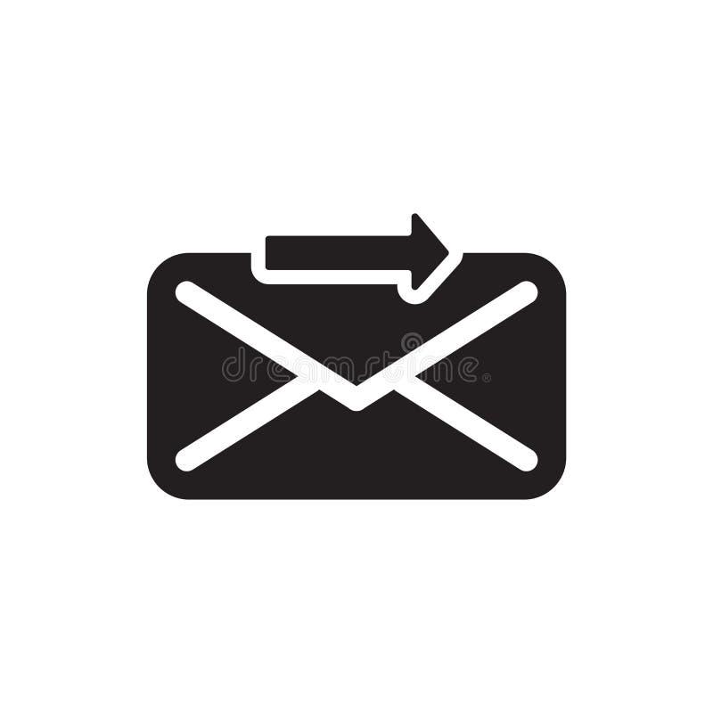 Envie o sinal do vetor do ícone e o símbolo isolado no fundo branco, envia o conceito do logotipo ilustração stock