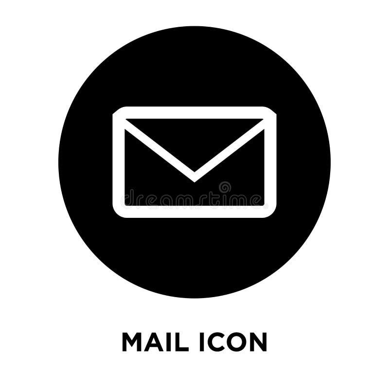 Envie o vetor do ícone isolado no fundo branco, conceito do logotipo de M ilustração stock